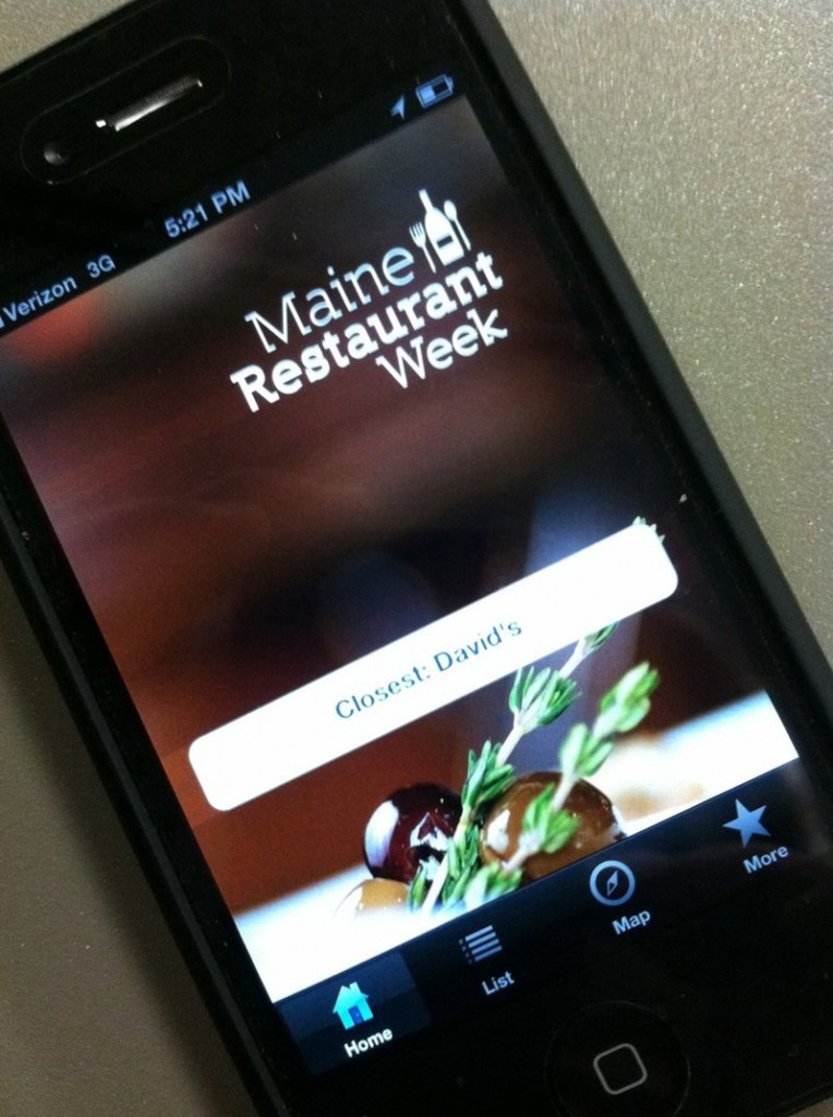 New this year is a Maine Restaurant Week mobile app for iPhone, available for free download in the iTunes app store.