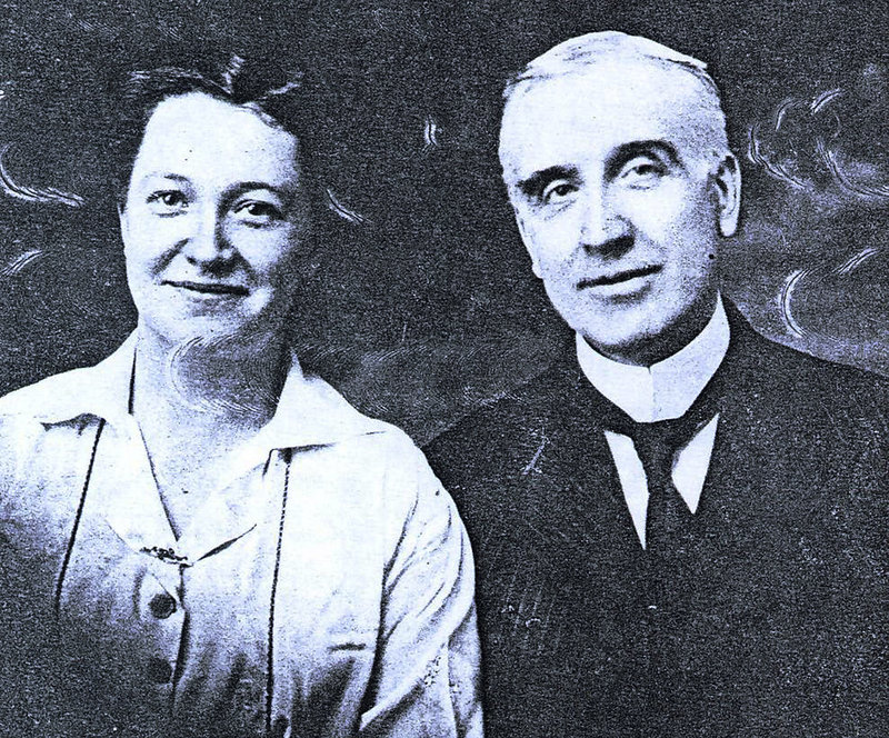Grace Rhodes Birch, left, a cook at The Elms mansion in Newport, R.I., is seen with her husband, Ernest Birch, the mansion's butler. The couple married in 1918.