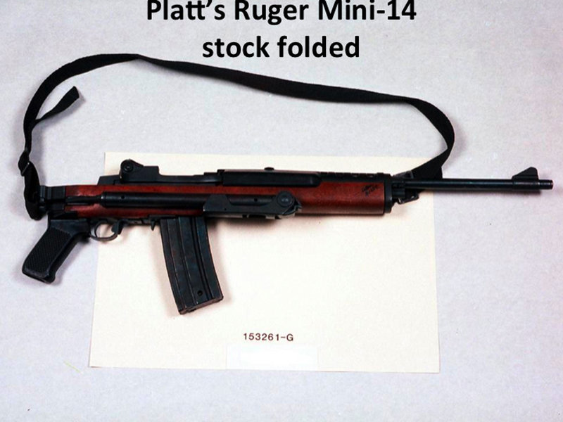 New models of this Ruger Mini-14 that have folding stocks and pistol grips would be banned under proposed federal gun control legislation. But a similar model without a folding stock would be exempted. Both models can take detachable magazines that hold dozens of rounds of ammunition.
