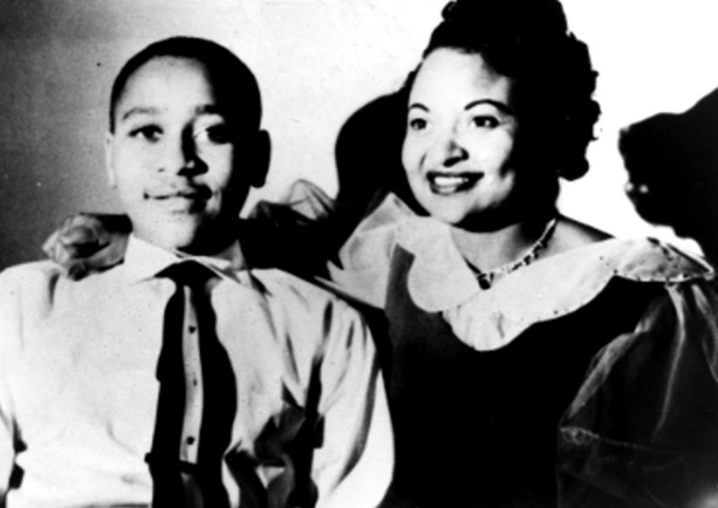 Mamie Till Mobley and her son Emmett Till are shown in an undated photo. Till, a 14-year-old from Chicago, was tortured and killed in 1955 after reportedly whistling at a white woman during a visit to Mississippi.