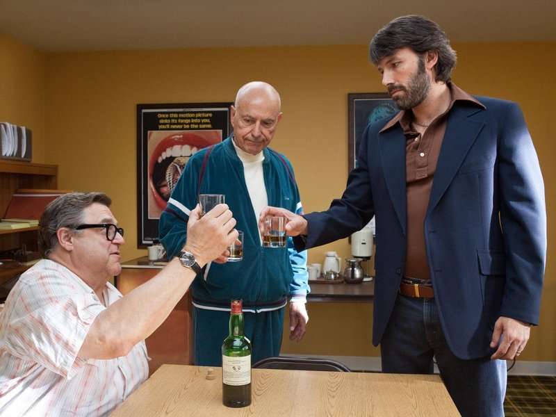 "John Goodman, left, Alan Arkin and Ben Affleck in ""Argo."""
