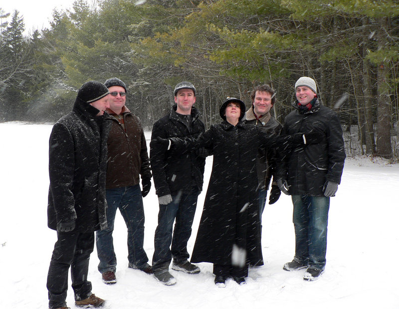 The Cape Breton Island-based family group The Barra MacNeils visit One Longfellow Square in Portland on Friday.