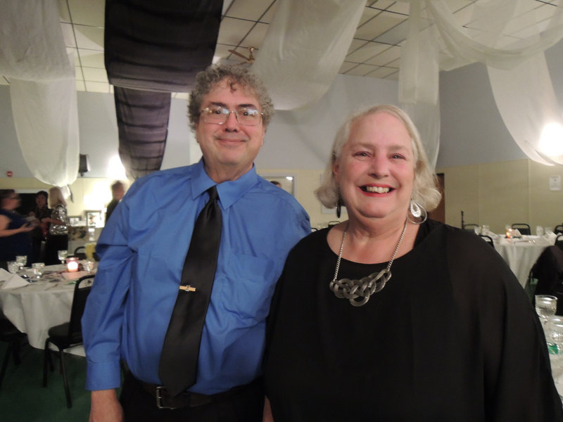 Roland Caya of Biddeford and Sharon Littlefield of Lyman, co-workers at Community Partners, which helps adults with developmental disabilities live as independently as possible.