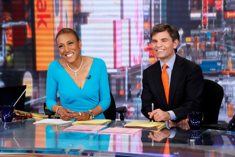 "Robin Roberts and George Stephanopoulos on ""Good Morning America."""
