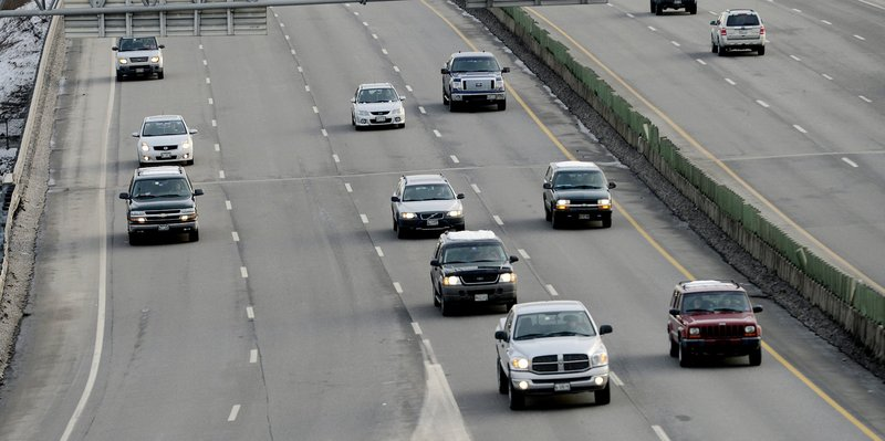 Northbound traffic on Tukey's Bridge on I-295. The state chooses 15 to 30 projects every year to receive safety improvement funds, and officials say the spending almost always translates to lower crash numbers.
