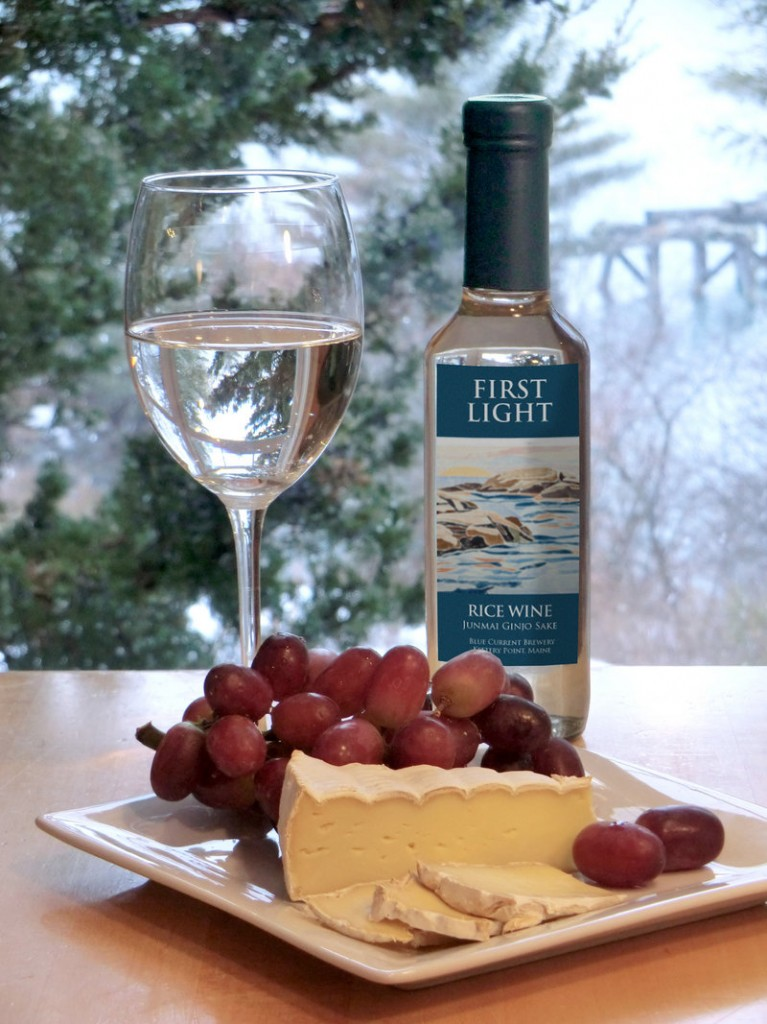 Blue Current's first sake will be called First Light, in honor of Maine. Ford and Sygowski are hoping Maine restaurants will jump at the chance to serve their customers a local sake.