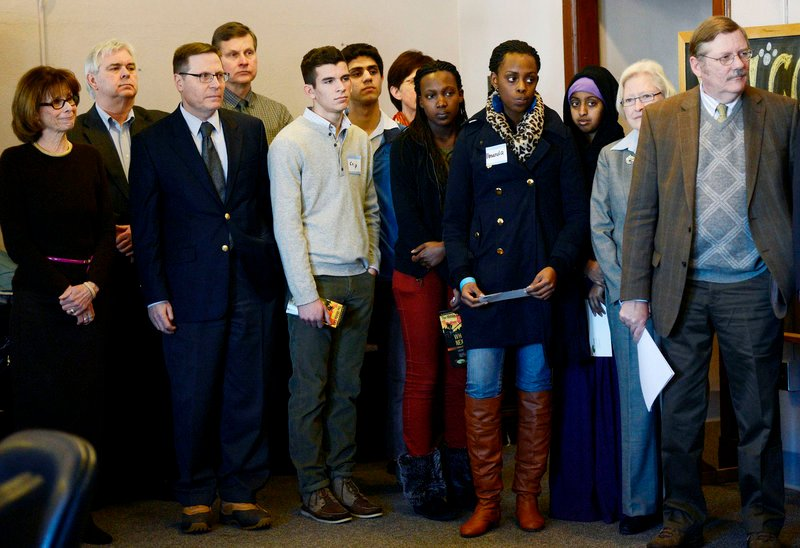 Portland High School students, faculty, community members and business leaders were on hand as City of Portland Mayor Michael Brennan announced the creation of Portland ConnectED, a community initiative designed to create pathways to success for Portland children Monday, Feb. 25, 2013.