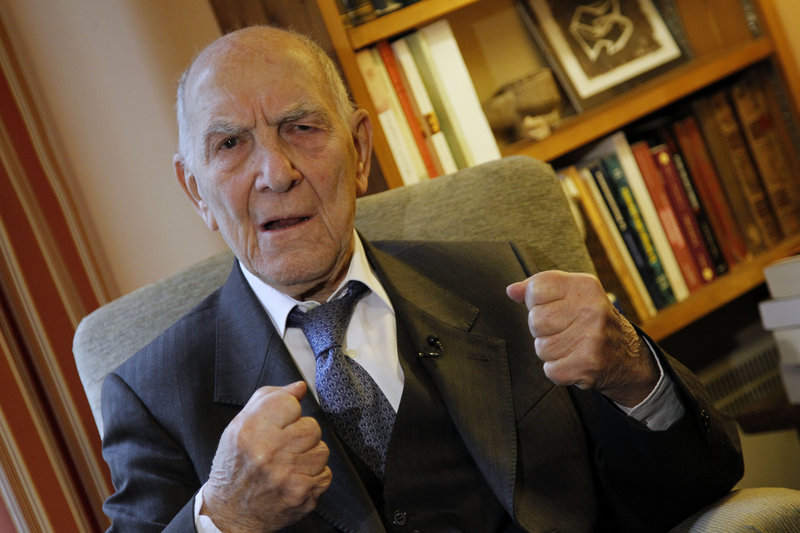 As a French diplomat, Stephane Hessel helped write the U.N.'s Universal Declaration of Human Rights.
