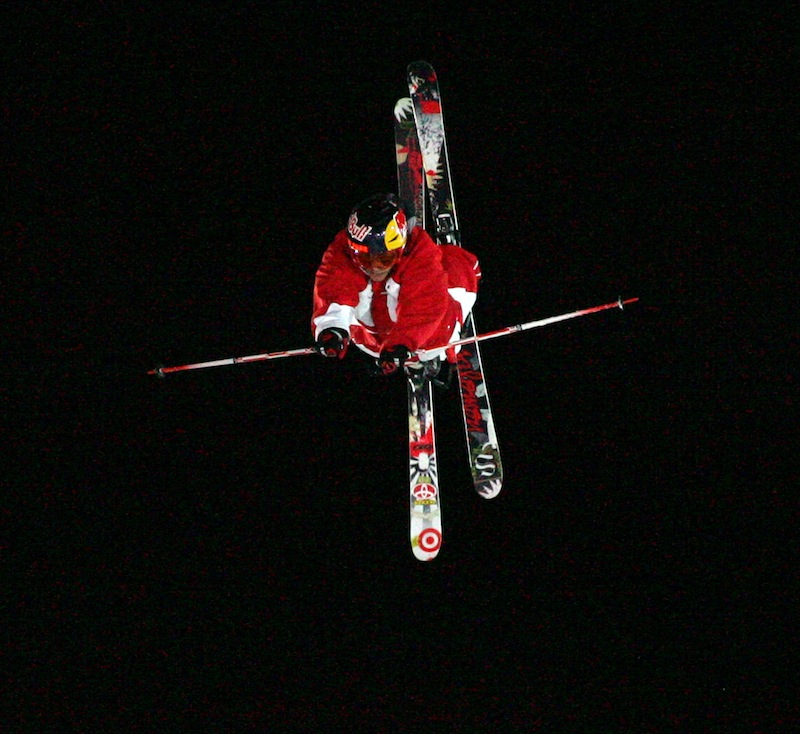 In this January 2009 file photo, Simon Dumont, of Bethel, Maine, performs a flip to win the Skiing Big Air competition at the Winter X Games 13 at Buttermilk Ski Area, near Aspen, Colo. Dumont is headed to Russia to prepare for his first-ever Olympics. (AP Photo/Nathan Bilow)