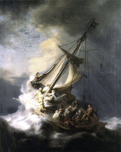 """The painting """"The Storm on the Sea of Galilee,"""" by Rembrandt, was among works of art stolen more than two decades ago from the Isabella Stewart Gardner Museum."""