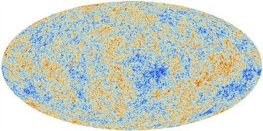 This image released by the European Space Agency shows the most detailed map ever created of the cosmic microwave background acquired by ESA's Planck space telescope. George Esfthathiou, an astrophysicist who announced the Planck satellite mapping, says the findings also offer new specificity of the universe's composition.