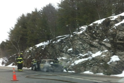 Portland firefighters on Friday, March 1, 2013 were at the scene of a car fire on Interstate 295 northbound near Exit 10.
