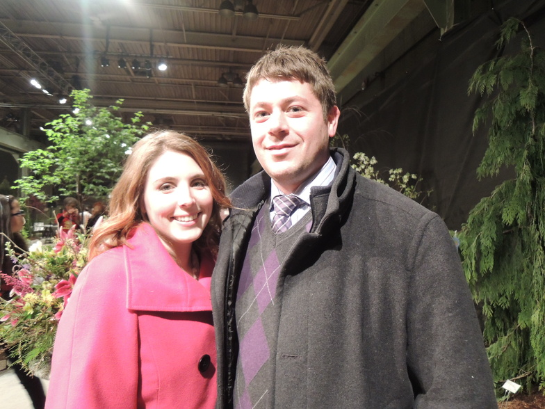 New homeowners Kelcie Martin and Mike Anderson of Portland explored the show for inspiration to transform their yard.