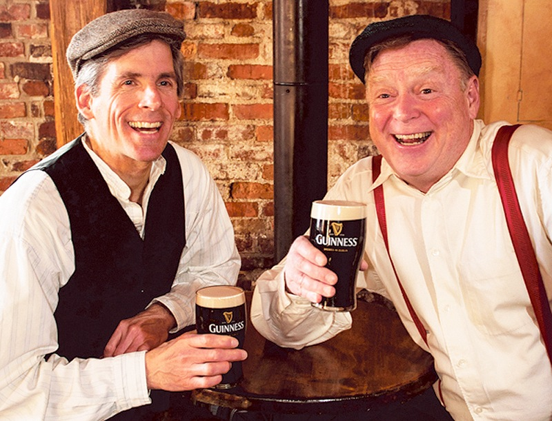 """Paul Haley and Tony Reilly star in """"A Couple of Blaguards,"""" the comedy by Irish literary stars Frank and Malachy McCourt."""