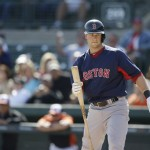 Boston Red Sox' Daniel Nava plays in an exhibition game against the Baltimore Orioles recently in Sarasota, Fla. After Wednesday's game against the Florida Marlins, Nava was hitting .318.