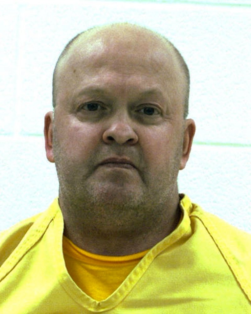 An undated booking photo released by the Centre County Correctional Facility in Bellefonte, Pa., shows Mark A. Miscavish. Miscavish, a former state trooper, killed his estranged wife with a shotgun inside a central Pennsylvania supermarket Thursday, March 28, 2013. and then killed himself. (AP Photo/Centre County Correctional Facility)