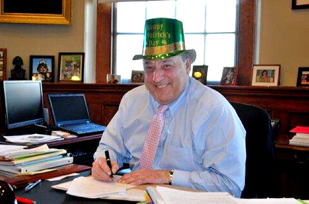 The Governor's Office in 2014 tweeted this photo on Friday of Gov. Paul LePage signing into law a bill that lifts the ban on selling alcohol between 6 and 9 a.m. on Sundays when St. Patrick's Day falls on a Sunday.