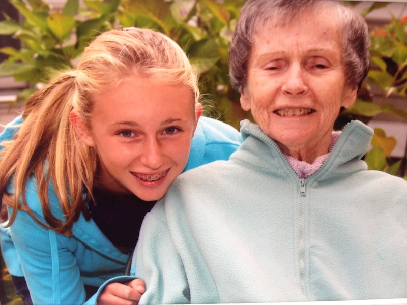 Sierra Tartre of Kennebunk with her grandmother Connie Roux six weeks before she died in December 2011 at age 77. She was diagnosed with Alzheimer's disease at age 74.