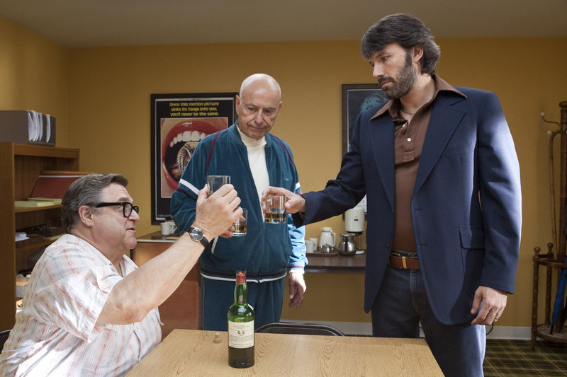 "John Goodman, Alan Arkin and Ben Affleck, above, in ""Argo,"" winner of the Academy Award for Best Picture."