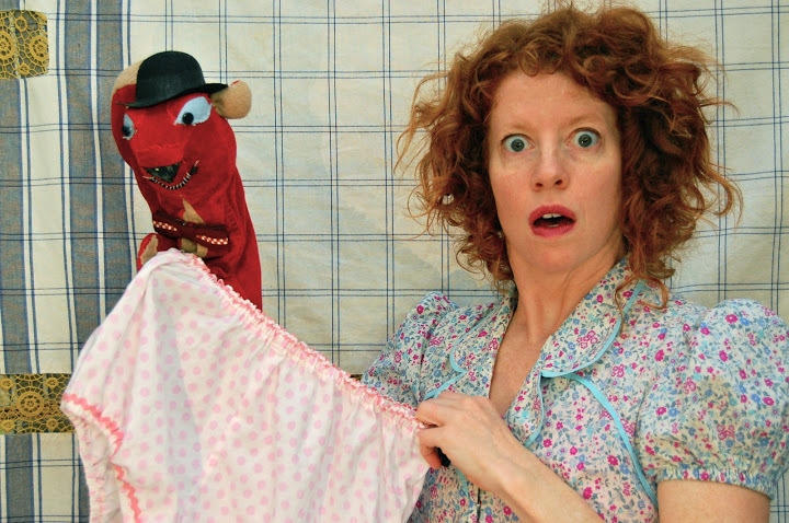 "Bonnie Duncan and her puppets star in ""Squirrel Stole My Underpants"" at 2 p.m. Sunday in the Mostly Puppets Festival at Mayo Street Arts in Portland."
