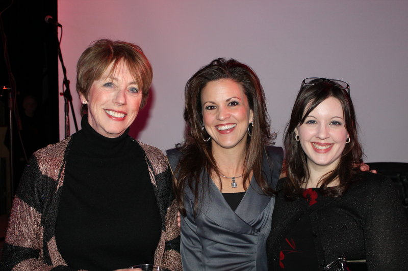 Gala guest Linda Quigley of Scarborough joins Mechelle Connolly and Jennifer Bliss from Maine Health, one of the evening's sponsors.
