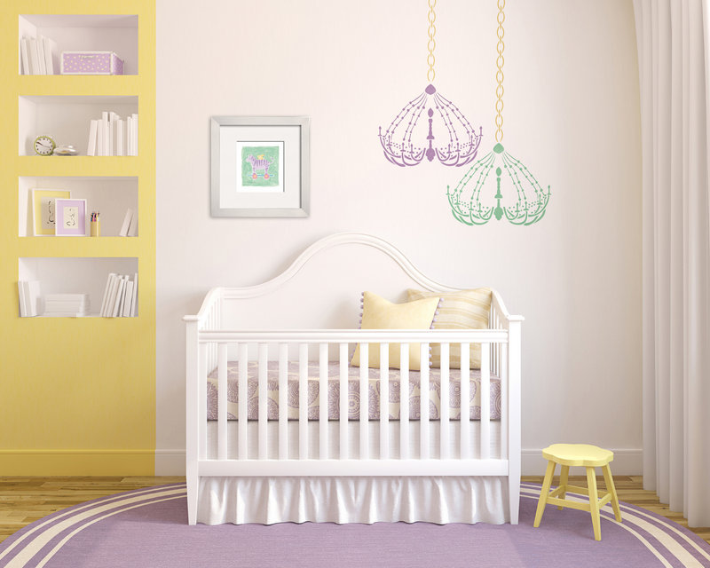 Stenciling is a hot decorating trend once more, in every room, including the nursery.
