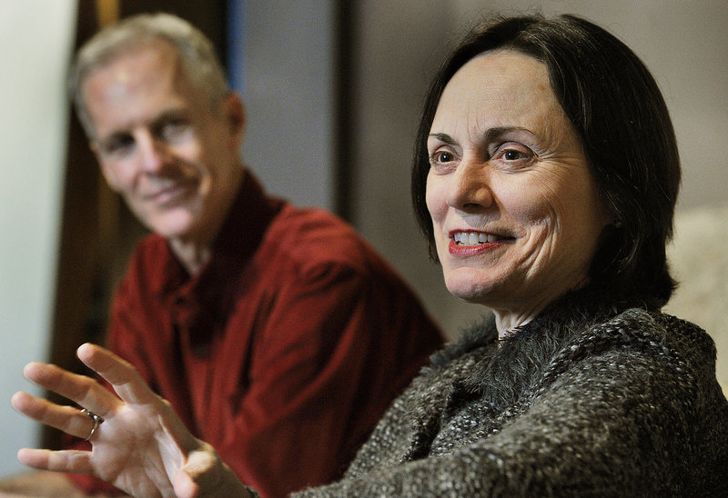"Actress Alma Cuervo stars in the new Good Theater production of ""4000 Miles."" At left is the play's director, Stephen Underwood."