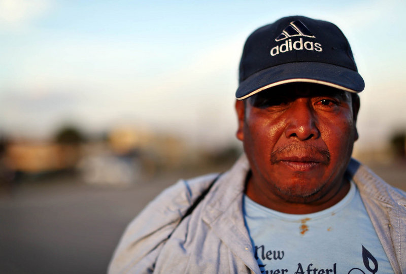 Mateo Sebastian, an undocumented Guatemalan tomato picker, would visit home if he became a legal citizen.