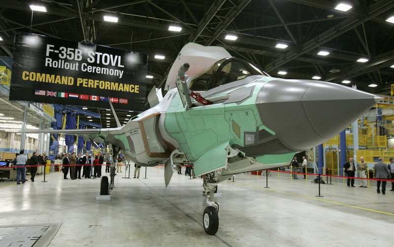 "The Lockheed Martin F-35B is unveiled in Fort Worth, Texas, in 2007. The Defense Department should invest more in long-range missiles and less in ""expensive aircraft like the F-35,"" a reader says."