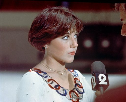 Dorothy Hamill back in the 1970s, with her then widely copied wedge.