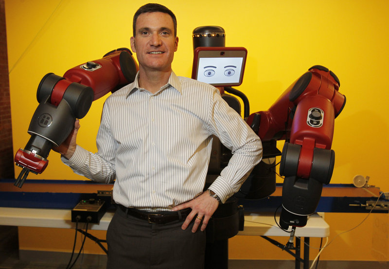 Scott Eckert, chief executive of the Boston-based Rethink Robotics, defends his industry against critics who decry robots as jobs-killers. Without his robots, Eckert says, many small businesses might look overseas for manufacturing.