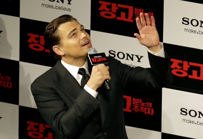 "Leonardo DiCaprio arrives for a premiere of ""Django Unchained"" in Seoul, South Korea, on Thursday."