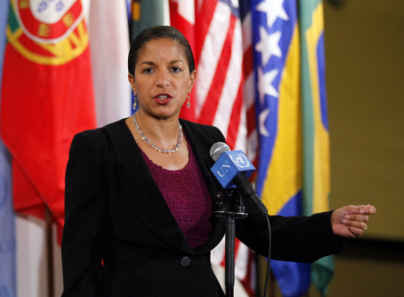 Susan Rice, U.S. ambassador to the United Nations, is the front-runner to succeed Tom Donilon as national security adviser, an official says.