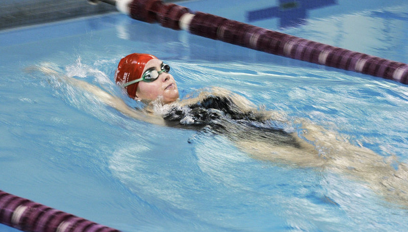 Sarah Easterling broke Jenni Roberts' state record in the 100-yard backstroke and was just short of Roberts' record in the 200 individual medley.