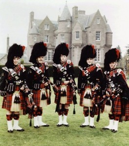 The Pipes, Drums and Highland Dancers of The Black Watch are joined by the Band of the Scots Guards for a lavish production of traditional Irish music on Sunday at Cumberland County Civic Center in Portland.