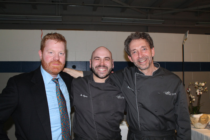Jim Britt of gBritt PR, Bo Byrne, chef de cuisine at David's Opus Ten in Portland and David Turin, executive chef and owner of David's restaurants.