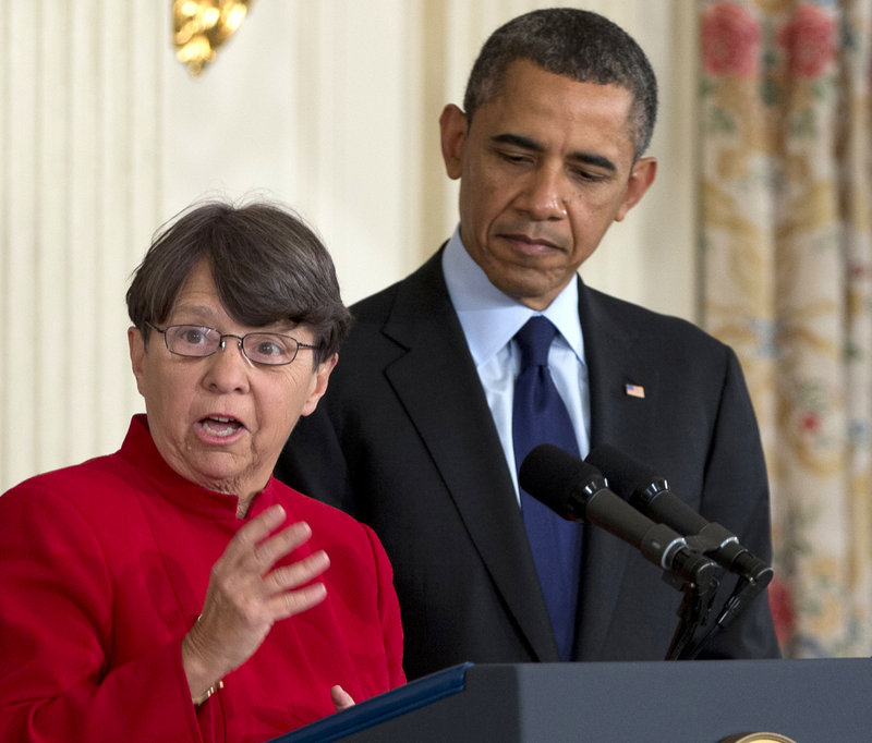 Mary Jo White with President Obama