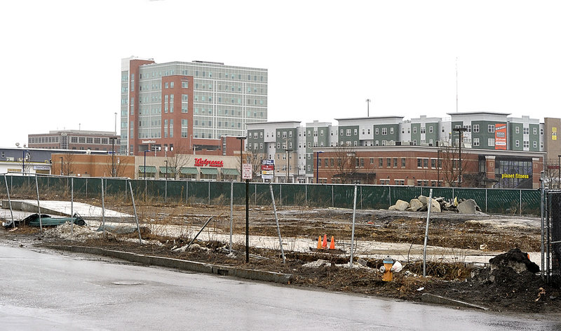 "The former scrap and rail yard on Somerset Street in Portland is the site of the proposed ""midtown"" development. The developers are seeking a height extension for the project."