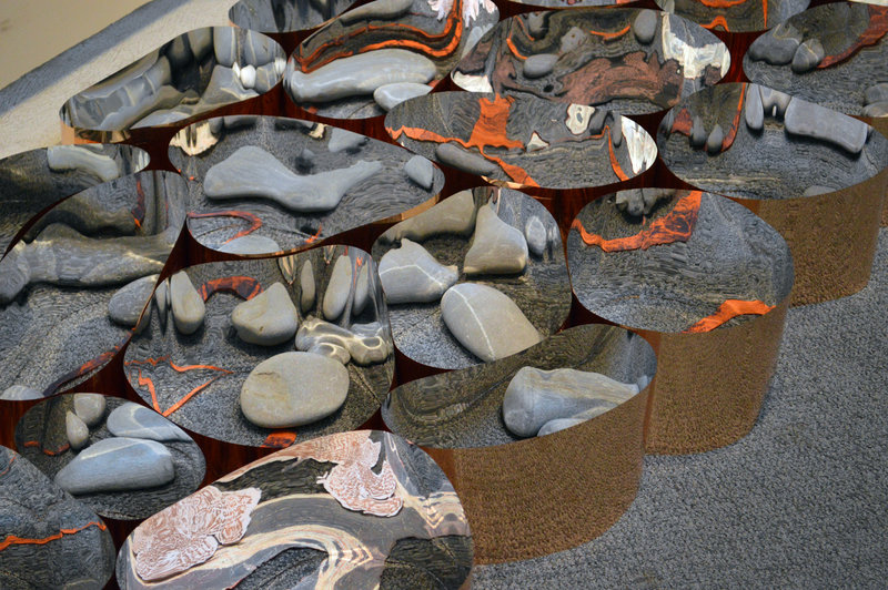 "Detail of Kate Cheney Chappell's ""Go Inside the Stone III""."
