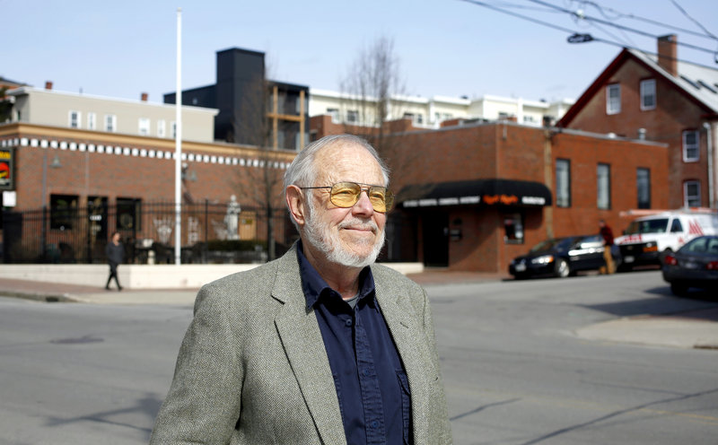 Hugh Nazor, founder of the India Street Neighborhood Association, says after Franklin Arterial was built in the 1960s and severed the neighborhood from the Old Port,