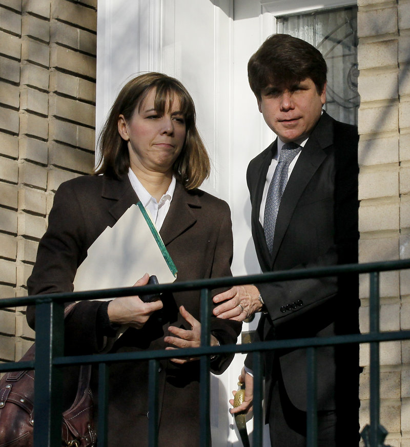 Patti Blagojevich, shown with former Illinois Gov. Rod Blagojevich in Chicago in 2011, says her husband has spent his first year in prison teaching Civil War history, playing guitar and running.