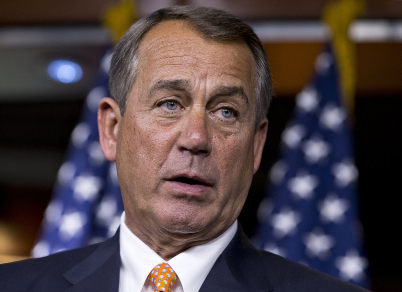 """House Speaker John Boehner told ABC's """"This Week"""" that he and President Obama have a good relationship and that they're """"open with each other ... honest with each other."""""""