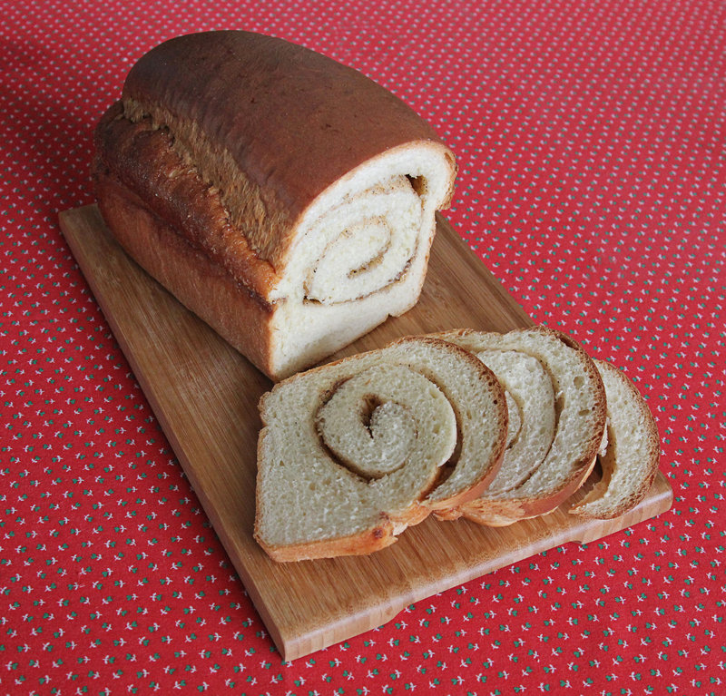 "Teresa Marrone's cardamom-maple swirl bread, from the recipe in her book ""Modern Maple."""