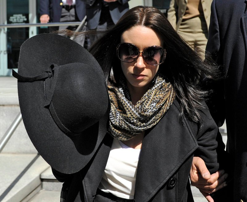 Casey Anthony leaves a recent bankruptcy hearing in Tampa, Fla.