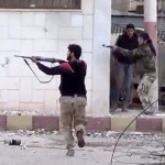 Free Syrian Army fighters fire at Syrian army soldiers during a fierce firefight Monday in Daraa al-Balad, Syria. The opposition hopes a newly elected chief can unite the many rebel groups fighting President Bashar Assad's forces.