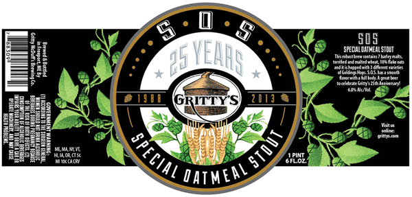 Gritty's Special Oatmeal Stout launches a series of beers marking the brewpub's 25th anniversary.