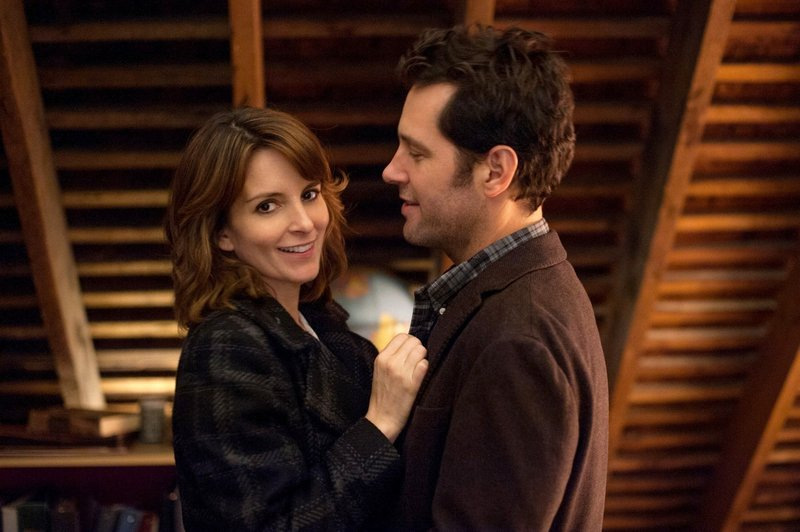 "Tina Fey, with Paul Rudd, above, and Lily Tomlin, below, stars as a conflicted Princeton admissions officer in ""Admission."""