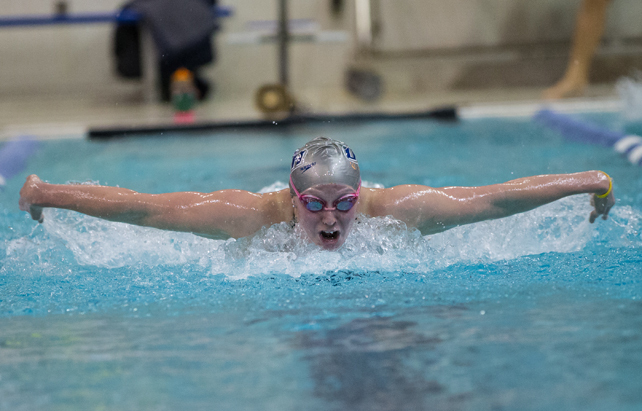Jenni Roberts, a Sanford High grad, will compete in three events at the NCAA Division I swimming and diving championships at Indianapolis this week for the University of New Hampshire.
