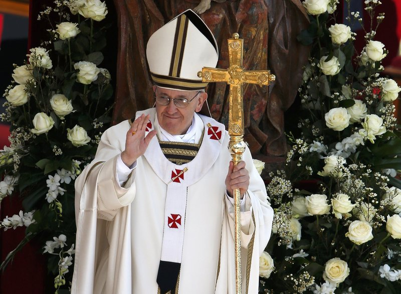 Pope Francis takes part in his inaugural Mass in Saint Peter's Square at the Vatican on Tuesday, celebrating the Mass among political and religious leaders from around the world.