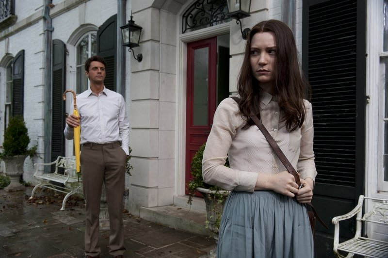 "Matthew Goode and Mia Wasikowska in a scene from ""Stoker,"" a dark thriller from director Chan-wook Park. Nicole Kidman also stars."